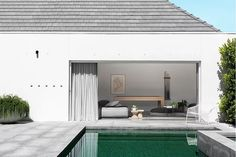 Swimming Pool Ideas: Pipkorn & Kilpatrick Interior Architecture and design Fresco, Patio Design, House Design, Exterior Design, Small Pool Houses, Property Design, Home Pictures, Maine House, Pool Landscaping