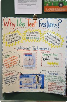 A Year of Many Firsts Blog: Why Use Text Features Anchor Chart idea