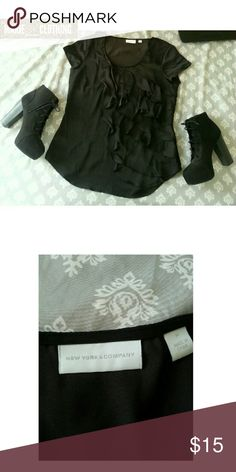 New York & Company Top This dark brown top is from New York & Company. This top would be perfect for many occasions!! This top is in great condition. Like new!!  Fabric: 100% Polyester  Feel free to make an offer!! No trades. Please don't advertise your closet. New York & Company Tops Blouses