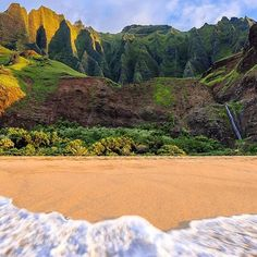 """As the cool Fall weather rolls in here we're dreaming of places like Kauai Hawaii. AQ Ambassador @tiffpenguin took this dreamy shot from her recent trip there. """"26 mile trek in 90 degrees 71 mosquito bites 3 blisters and no shave ice. was it worth it? you be the judge 