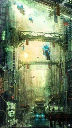 in between steel giants by TheArtofSaul on deviantART