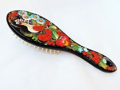Wooden hair brush  Large handmade hair brush  by BloomingYourMind