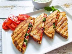 Healthy Cooking, Feta, Tapas, Sandwiches, Food And Drink, Lunch, Dinner, Recipes, Red Peppers