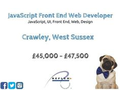 Calling all JavaScript Front End Web Developers! Required for an expanding Telecommunications firm set in modern offices in Crawley to work on their Cloud Based products. To find out more please email your CV to Marc on march@reflexgroup.co.uk #pug #dogsofinstgram #itjobs #recruiting #recruitment #techjobs #sussexjobs #developers #designers #web #frontend #javascript #UI #webdeveloper #frontenddeveloper
