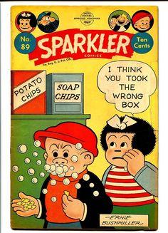 SPARKLER COMICS #89-NANCY AND SLUGGO COVER VG