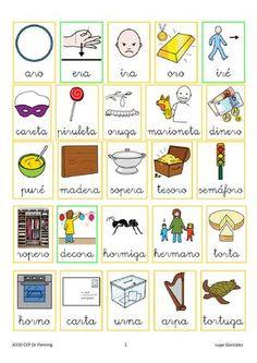 Palabras con pictogramas lam4 5 6  Palabras con apoyo de pictogramas de las sílabas de las láminas 4, 5 y 6
