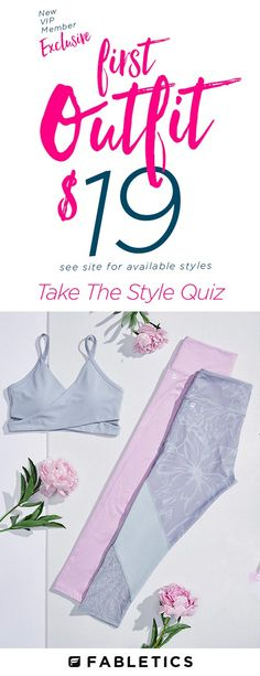 Stylish, Technically Efficient Activewear Designed for All Shapes and Sizes. Take Our Quick 60 Second Style Quiz to Get Your First Outfit for $19!