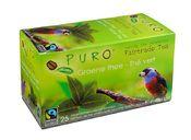 Puro Fairtrade groene thee Een verkwikkend kopje 100% pure groene thee, met Max Havelaar label. Vol, licht kruidig en krachtig van smaak. € 2,10- PURO FAIRTRADE COFFEE @ HOME