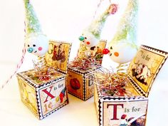 Jack in the Box Ornament // Handmade Christmas by BloomingGoddess, $20.99