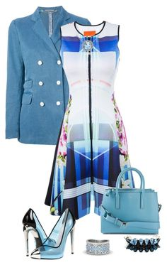 """""""Pale Blue"""" by jawind ❤ liked on Polyvore featuring Boglioli, Clover Canyon, Glitzy Rocks, Anya Hindmarch, Giuseppe Zanotti, Gemvara and DANNIJO"""
