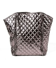 Take a look at this Metallic Gunmetal Alaya Tote by Amrita Singh on #zulily today!