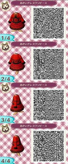 Red dress with mantel - Animal Crossing New Leaf QR code