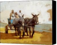 Donkey Cart Painting by Alida Bothma - Donkey Cart Fine Art Prints and Posters for Sale