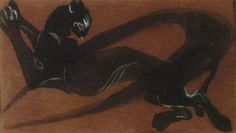Orovida Camille Pissarro The panther