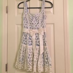 Lace dress Really cute dress for holidays. Fits really nice. Never worn Betsey Johnson Dresses Mini
