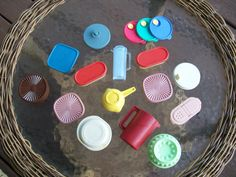 Vintage LOT of Tupperware Magnets You Get All 15