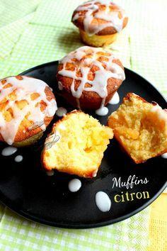 Muffins au citron coeur fondant