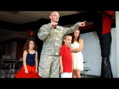 U.S. Army Soldier Surprises His Son and Daughter at School Assembly