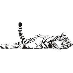 Šablóny na maľovanie Tiger exa115 | Zvieratá šablóny na maľovanie | DECOTREND