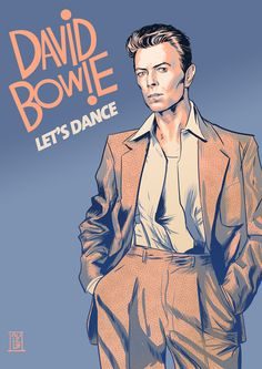 Slick Graphics - Vector poster series ilustrating three different moments in David Bowie's career