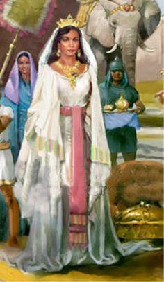 Makeda, the 'Queen of Sheba' - ruler of Ethiopia- Biblical figure - wife of King Solomon of Israel [son of King David of Israel] - mother of first Solomonic Emperor of Ethiopia, King Menelik I