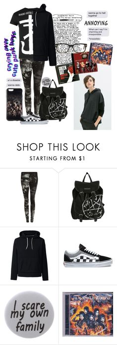 """""""~ sing it for the ones that will hate your guts~ RTD"""" by yourfriendlyneighborhoodemo ❤ liked on Polyvore featuring Paul Frank, Hot Topic, Lands' End, Vans, Humör, DK and Tom Ford"""
