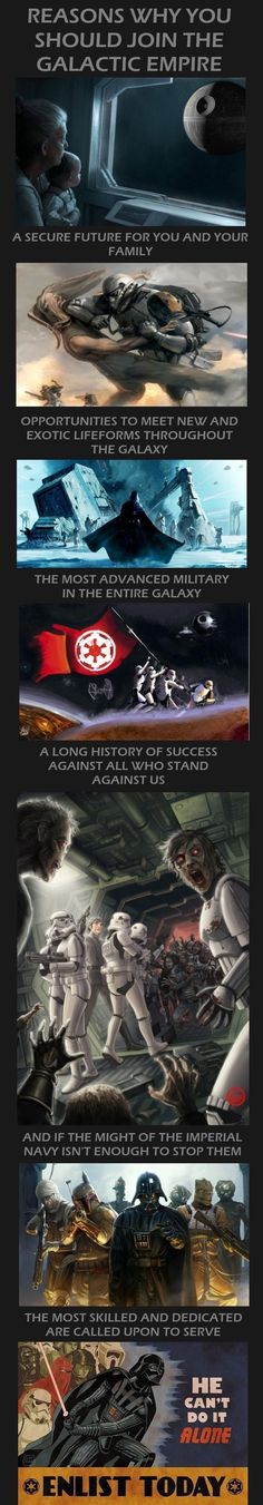 Reasons why you should join the Galactic Empire
