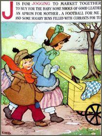 Soloillustratori: E.W.B. Childrens Alphabet, Childrens Books, Alphabet Poem, Nursery Rhymes Poems, Japanese Drawings, Kids Poems, Vintage Children's Books, Vintage Cards, Vintage Photos