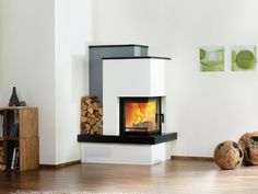 Kachelofen 5 116 0 ECOplus nachtschwarz Dream Home Design, House Design, Rocket Stoves, Heating Systems, Bungalow, Lounge, Home Appliances, Living Room, Bedroom