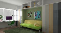 Green And White Combination Home Office Design Id436 - Home Office Design Ideas - Home Interior Disigns - Interior Design