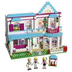 LEGO Friends Stephanie's House 41314 Build and Play Toy House with Mini Dolls, Dollhouse Kit Pieces) Legos, Buy Lego, Lego Lego, Lego Batman, Lego Ninjago, Lego Minecraft, Minecraft Buildings, Lego Store, Shop Lego
