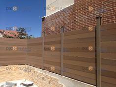 vallas de madera sintética para cerramientos, cercados, vallados, barandillas de piscina, parques infantiles, terrazas de restaurante..etc #vallas_madera_sintetica #deckplanet