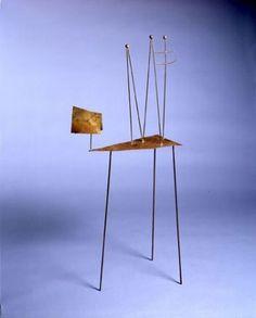 Fausto Melotti, Uomini brass sculpture, 1966.