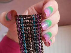 Colgante con cadenas de colores 5