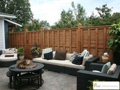 Fence outlining  a fabulous backyard space