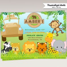 Safari jungle invitation boys 1st birthday invite custom vintage safari jungle invitation boys 1st birthday invite custom vintage boy first card banner forest 2nd 3rd card invite one 1st chalk chalkboard tus me gusta filmwisefo