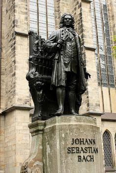 Leipzig ~ Saxony ~ Germany ~ Monument to Johann Sebastian Bach outside the Saint Thomas Church where he worked. Sebastian Bach, Baroque Composers, Classical Music Composers, Visit Germany, Germany Travel, Gherkin London, Leipzig Germany, Statues, Wassily Kandinsky