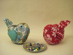tutorial for birdie pincushions