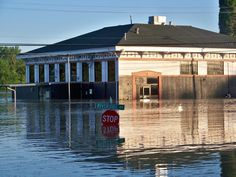 Old button factory in Clarksville TN. became water works, then numerous nite clubs over the years. Flood of 2010. It will and did rise again. Can't destroy these old buildings.