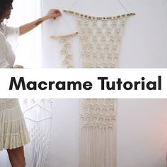 DIY Macrame Hammock Chair Swing Tutorial – Video Beginner Macrame Keychain Video Tutorial Make a Macrame Table Runner (Video Tutorial DIY Macrame Owl Tutorial with Video Crafts For Teens, Crafts To Sell, Diy And Crafts, Upcycled Crafts, Techniques Couture, Craft Videos, Diy Videos, Videos Video, Diy Tutorial