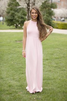 Focus On Our Love Maxi Dress Light Pink - The Pink Lily