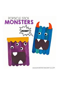 Popsicle Stick Monsters - WomansDay.com
