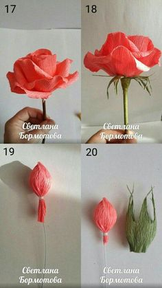 Make Easy Corrugated Paper Rose step by step DIY tutorial instructions…How to DIY Easy Rose from Crepe Paper thumbCrepe paper flowers look like natural flowers but last longer and won't wilt or droop. That's why they are very popular for party Paper Flowers Craft, Paper Flowers Wedding, Crepe Paper Flowers, Felt Flowers, Flower Crafts, Diy Flowers, Fabric Flowers, Paper Peonies, Diy Paper
