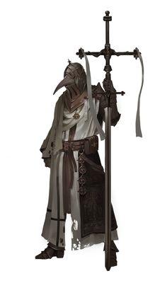 plague knight, J JP on ArtStation at https://www.artstation.com/artwork/gmENZ