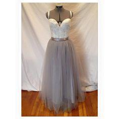 The Silver Dreams Wedding Dress Ivory Lace Grey door darkponydesigns