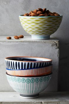 Anthropologie Inside Out Nut Bowls