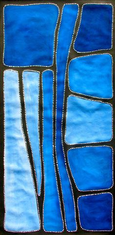 Aboriginal Artwork by Sally Clark. Sold through Coolabah Art on eBay. Cataogue ID 13282