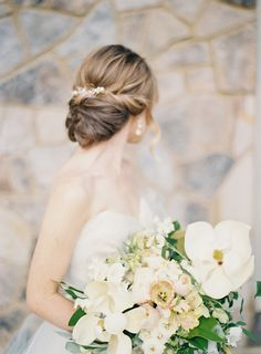 Wedding Hair Chignon | Classic Wedding Inspiration By Rachel May Photography
