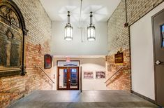 7 Toronto Churches Converted Into Beautiful Condo Lofts You Can Actually Live In Brick Arch, Brick Wall, Lofts For Rent, Gas Bbq, Wood Ceilings, West Village, Exposed Brick, Condo, Gallery Wall