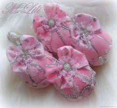 """Купить Подарочные елочные шары  """"2018"""" - розовый, Снег, елочные украшения, подарок на новый год"""
